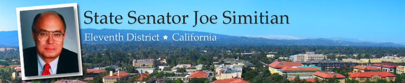 State Senator Joe Simitian - 11th District - California